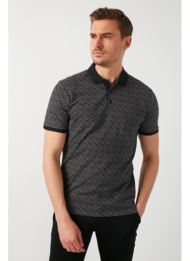 Buratti Buratti Polo Yaka Erkek T-Shirt 5968003 Siyah